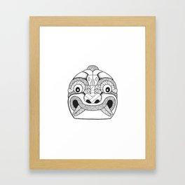 Cabeza Clava Chavin Framed Art Print
