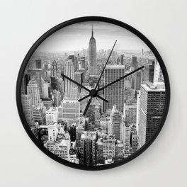 Monochrome NYC Wall Clock