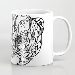 Oriental Small-clawed Otter Doodle Art Coffee Mug