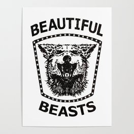 BEAUTIFUL BEASTS stamp Poster