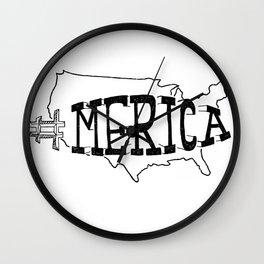 #Merica Wall Clock