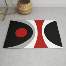 Colorful geometric composition Rug