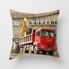 Monte Carlo Construction Throw Pillow