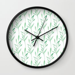 Botanical Stripes Wall Clock