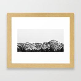 Winter Mountain Framed Art Print