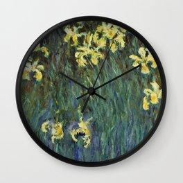"""Claude Monet """"Yellow irises"""" Wall Clock"""