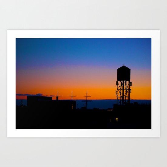 NYC Sundown Art Print