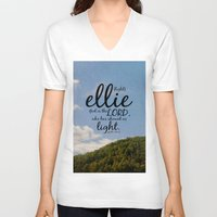 ellie goulding V-neck T-shirts featuring Ellie by KimberosePhotography