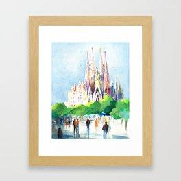 La Sagrada Familia Framed Art Print