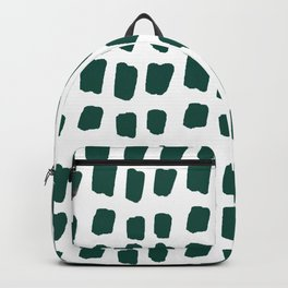 Green Abstract Paint Splotches Backpack