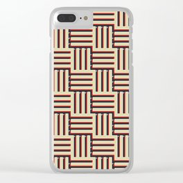 VINTAGE MAZE #2 Clear iPhone Case