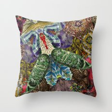 Psychedelic Botanical 5 Throw Pillow