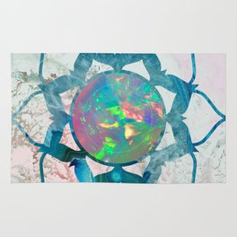 Psychedelic Crystal Lotus 2 Rug
