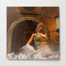 The wonderful steampunk lady Metal Print