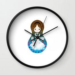 Alice in Wonderland matrioska Wall Clock
