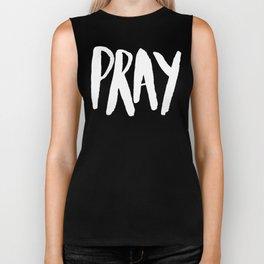 Pray Typography x Rose Biker Tank