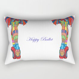 Happy Ballet 5 Rectangular Pillow