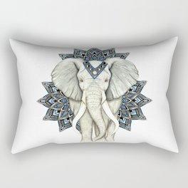Zen Elephant Mandala Rectangular Pillow