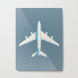 A380 Super Jumbo Jet Airliner - Slate Metal Print