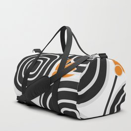 Abstract circles and cute little flowers Duffle Bag
