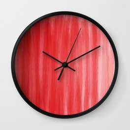 Red- ombre watercolor pattern! Wall Clock