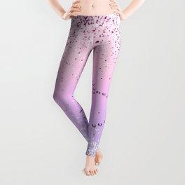 Sparkling UNICORN Girls Glitter Heart #1 #shiny #pastel #decor #art #society6 Leggings