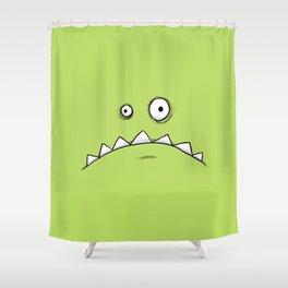 Grumpy Green Monster Shower Curtain