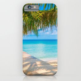 Pier In Tropical Las Palmas De Gran Canaria Spain Ultra HD iPhone Case