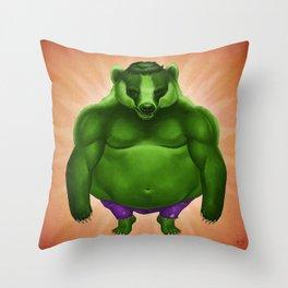 Bruce Badger Throw Pillow