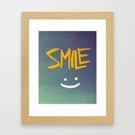 Smile (: Framed Art Print