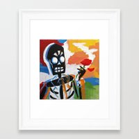 grim fandango Framed Art Prints featuring Your Travel Agent - Grim Fandango by wildstar25