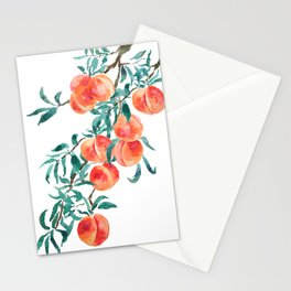 peach watercolor Stationery Cards