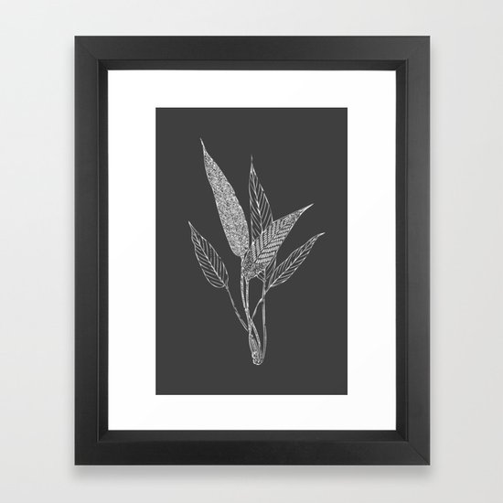 Black and White Botanical Drawing by junejournal