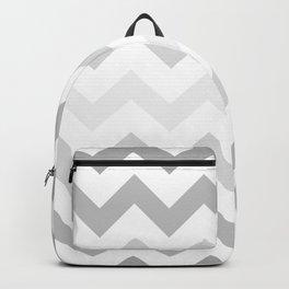 Gradient Grey Chevron on White Backpack