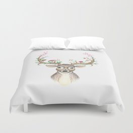 Deer Goddess Duvet Cover
