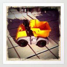 Toy Dumptruck Art Print