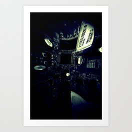 The City of Circuitry 9.0 Art Print
