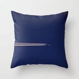 Jet and Contrail Throw Pillow