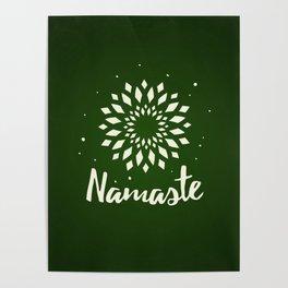 Namaste Mandala Flower Power Poster