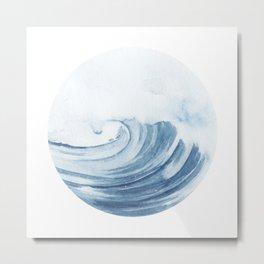 Wave Crashing Metal Print