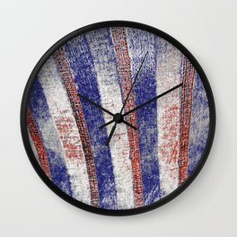 The Old Red White And Blue Wall Clock