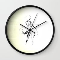 marilyn Wall Clocks featuring - Marilyn - by Magdalla Del Fresto