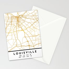 LOUISVILLE KENTUCKY CITY STREET MAP ART Stationery Cards
