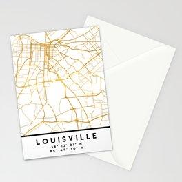 LOUISVILLE KENTUCKY CITY STREET MAP ART Stationery Cards