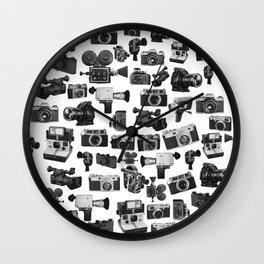 Cameras Black & White Wall Clock