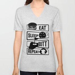 Eat Sleep Putt Repeat - Golf Ball Course Fairway Unisex V-Neck