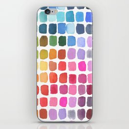 Watercolor Swatches iPhone Skin