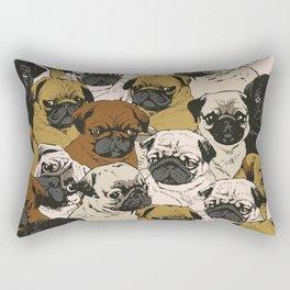 Social Pugs Rectangular Pillow