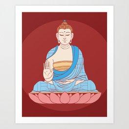 Gautama Buddha Art Print