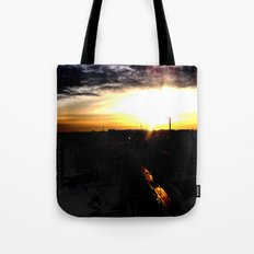 Fire in the sky(1) Tote Bag